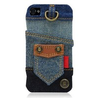 Blue Jean IPhone4/4S Case-Patchwork