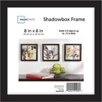 Mainstays 8x8 Shadowbox Frame, Black