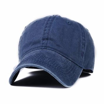 Unisex casual Vintage Canvas polo baseball cap Washed Combed snapback hat