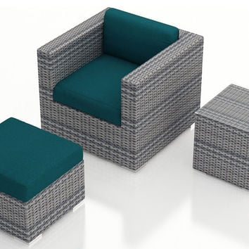 2016 Sofa Furniture 3 Piece Weathered Stone Outdoor Club Chair Set