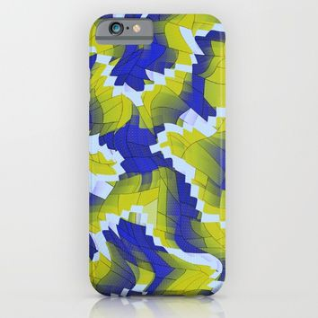 Blue And Green splinter iPhone & iPod Case by Jeanette Rietz