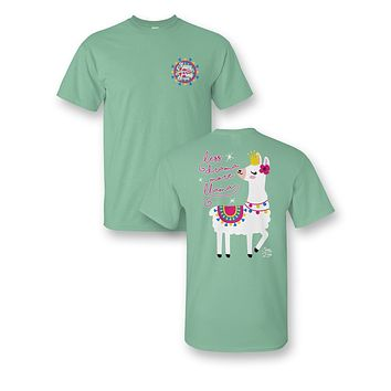 Sassy Frass Less Drama More Llama Bright Girlie T Shirt