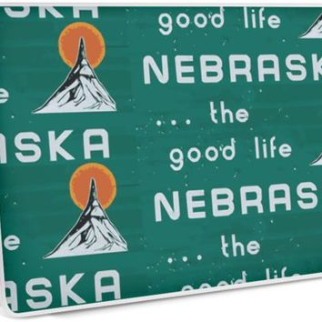 'Nebraska. . .the good life! NE shirt: #nebraskalove' Laptop Skin by smooshfaceutd
