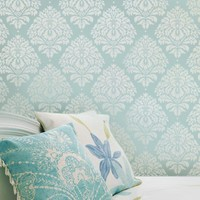 Wall Stencil Damask Kerry SM Reusable by CuttingEdgeStencils