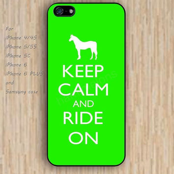iPhone 6 case lighting blue horse keep calm iphone case,ipod case,samsung galaxy case available plastic rubber case waterproof B103