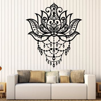 Art Lotus Flower Vinyl Wall Stickers Decor Yoga Center Meditation Room Wall Decal Artistic Design High Quality Wallpaper SA889