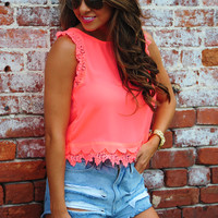 Make A Wave Top: Neon Pink