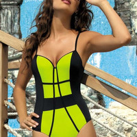 Pipe One Piece Swimsuit