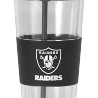 Oakland Raiders No Spill Straw Tumbler
