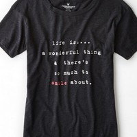 AEO 's Mantra Graphic T-shirt (True Black)