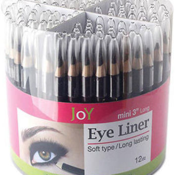 "Mini 3"""" Eye Liner Assorted Colors Counter Display Case Pack 144"