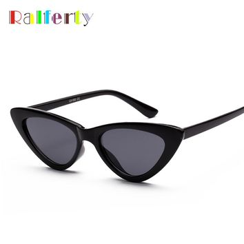 Ralferty Cat Eye Sunglasses Women 2018 Vintage Sunglases UV400 Black Shades Retro Cateye lunette de soleil femme oculos W18502
