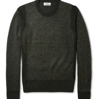 Acne Trick Panelled Wool-Blend Sweater | MR PORTER