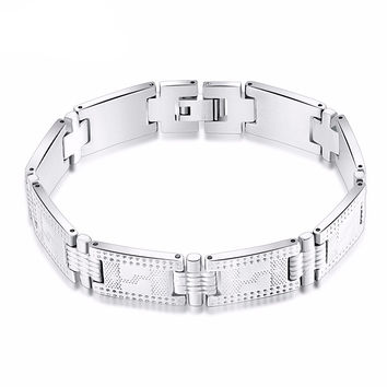 Effie Queen Link Chain Bracelet - Silver