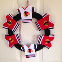 Chicago Black Hawks Jersey Wreath *GIFTS FOR HIM*