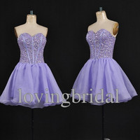 Short lavender Strapless Satin Bow Prom Dress Bridesmaid Dress Party Dress Simple Homecoming Dress Formal Prom Dress Custom wedding dress