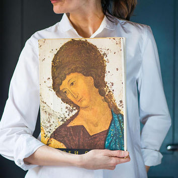 Andrei Rublevicons book 1960, medievalRussian painters book, Orthodoxiconsfrescos book, Rublev's Orthodoxiconography book in Russian