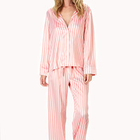 FOREVER 21 Candy Striped PJ Set