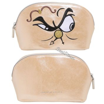 Licensed cool Disney Beauty & Beast Cogsworth Cosmetic Make-Up Bag Licensed Danielle Nicole