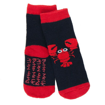 Butter Me Up Lobster Infant Slipper Socks
