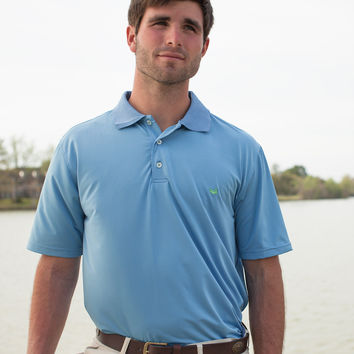 The Bermuda Performance Polo - Solid - Collegiate - University of North Carolina Wilmington