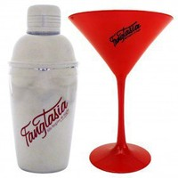 True Blood Fangtasia Martini Glass + Shaker Set