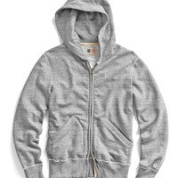 Vintage Full Zip Hoodie in Grey Heather