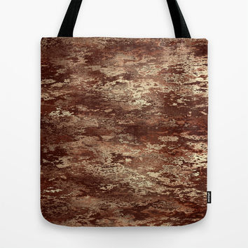 Brown wood bark texture Tote Bag by Natalia Bykova