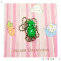 Polymer Clay Pickle Pendant Kawaii