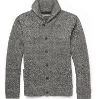 Beams Plus - Herringbone-Print Fleece Shawl-Collar Cardiigan | MR PORTER