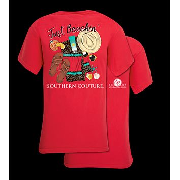 Southern Couture Preppy Just Beachin Comfort Colors T-Shirt