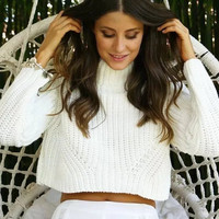 Pullover Stylish Crop Top Sweater [9073802566]
