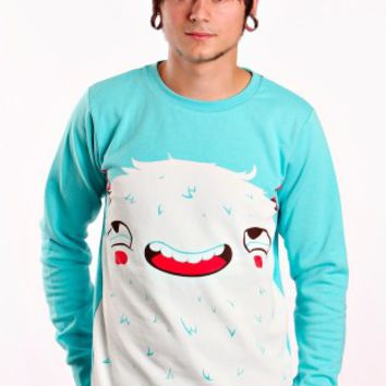 Drop Dead - Curious Crewneck Lightblue - Sweater