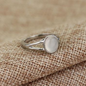 MQCHUN The Twilight Saga New Moon Stone Ring Bella Opal Twilight Ring Vampire Jewelry Edward Engagement Rings Gift