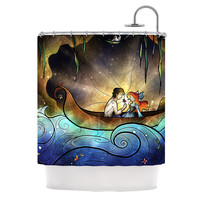 "Mandie Manzano ""Something About Her"" Mermaid Shower Curtain"