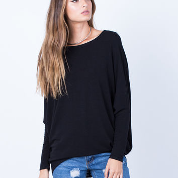 Long Sleeve Dolman Basic Soft Top