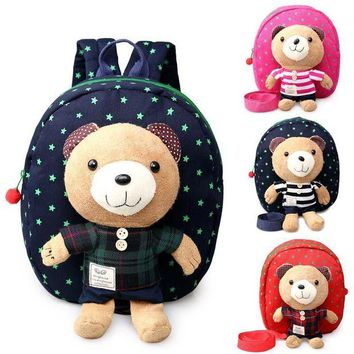 ONETOW Plush animal backpacks for kids safety harnesses for 1~3 years old baby toddler walking keeper bear cute backpack storage bag