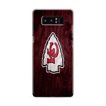 Kansas City Chiefs (colored wood logo) Samsung Galaxy Note 8 Case