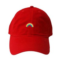 Go All Out Adult Rainbow Embroidered Deluxe Dad Hat - Walmart.com