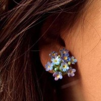 Forget Me Not Vintage 40's Clip Earrings | JewelHausRocks | ASOS Marketplace