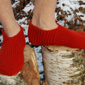 Men's  slipper socks, Knitted Slippers, Hand knit slippers, Knitted Wool Socks, knitted wool slippers, Wool socks for women