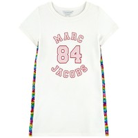 Marc Jacobs Girls White Logo Sweatshirt Dress w/ sequins (Mini-Me)
