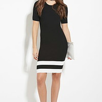 Varsity-Striped Bodycon Dress