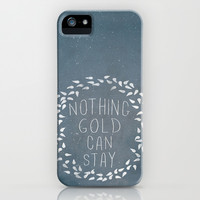 III. Nothing Gold Can Stay iPhone & iPod Case by Zyanya Lorenzo