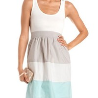 Color Block 2-Fer Tank Dress: Charlotte Russe