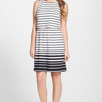 Stripe Ponte Popover Dress