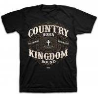 Kerusso Country Born Kingdom Bound Christian T-Shirt