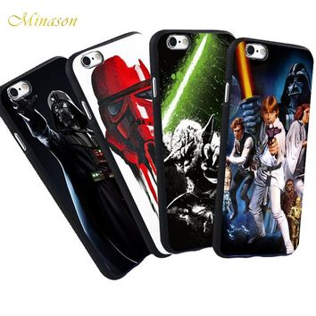Minason Master Yoda Darth Vader Star Wars Case For iPhone X 8 5 S SE 7 Plus 6 6S Capa Soft Black Silicone Phone Fundas Capinhas