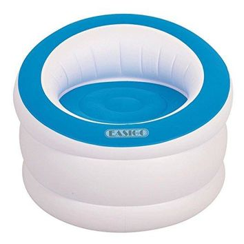 By PoolCentral 35 inch  White and Cyan Blue Indoor/Outdoor Inflatable  inch Easigo inch  Chair