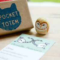 Barn Owl Totem- Pocket totem